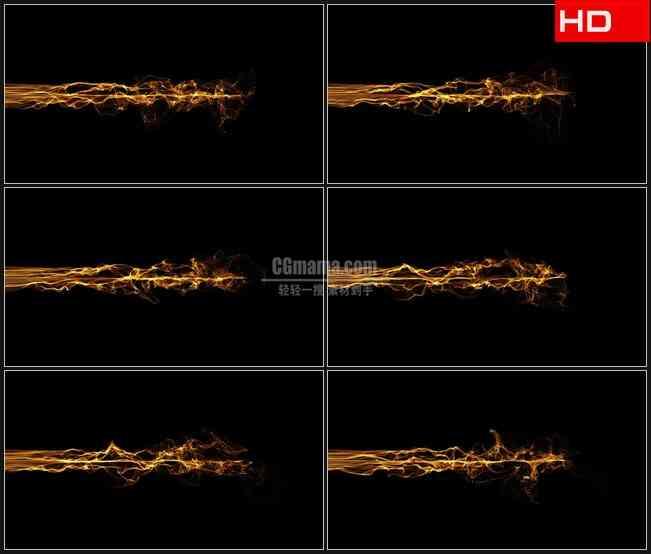 BG0760-金黄色细电波流叠加透明通道高清LED视频背景素材