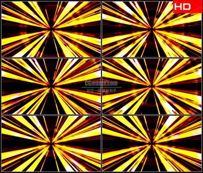 BG0767-强烈金黄色隧道光线高清LED视频背景素材