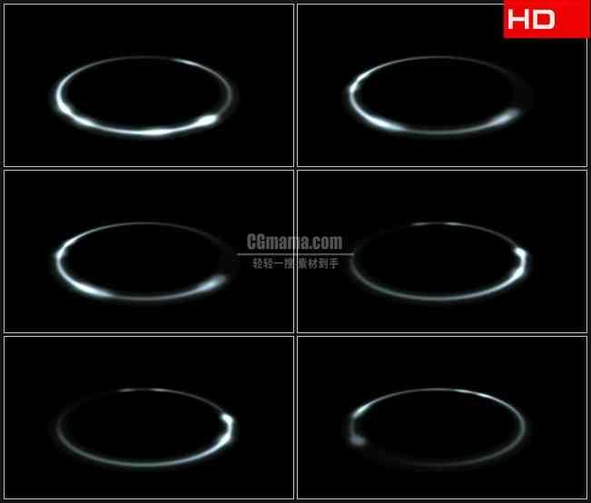 BG0774-透明圈叠加白色光圈黑色背景高清LED视频背景素材