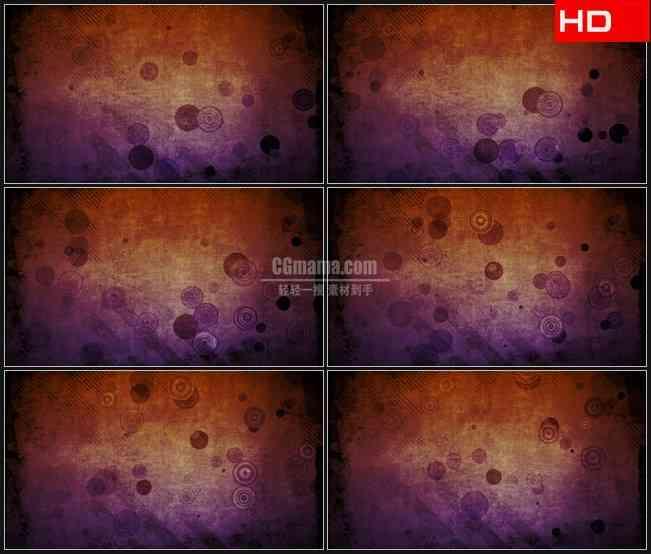 BG0777-斜条纹理圆圈复古紫色动态背景高清LED视频背景素材