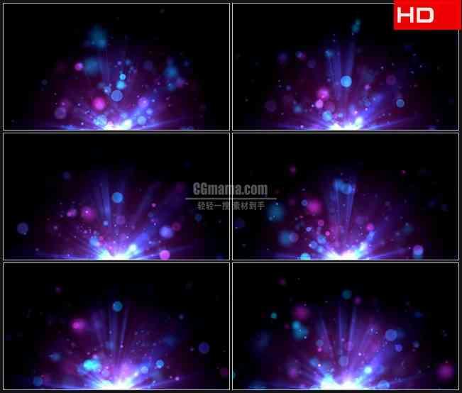 BG0785-紫色光晕粒子动态背景高清LED视频背景素材