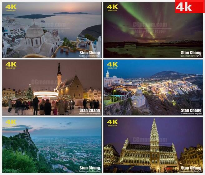 4K0718[4K高清演示片] 欧洲30国缩时摄影 高清实拍视频素材