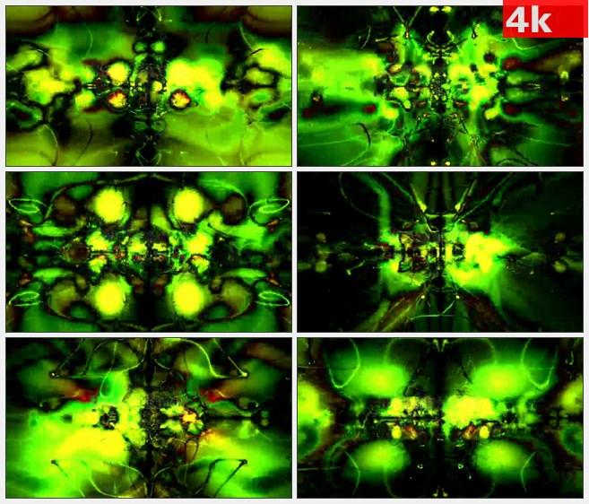 4K0724LED大屏背景素材 抽象动感光线动画 万花筒样式 动感快节奏 高清LED视频背景素材