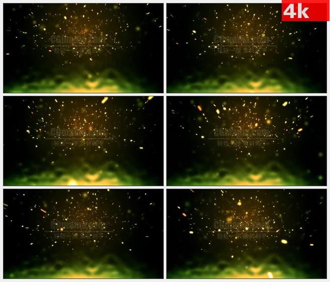 4K0727LED大屏背景素材 抽象金光四射冲击力视觉效果 高清LED视频背景素材