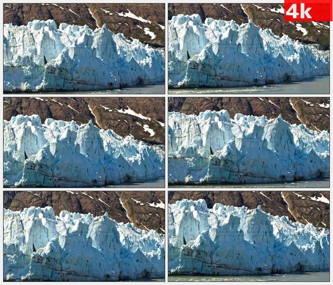 4K0792冰川阿拉斯加山脉航行沿途风景高清实拍视频素材