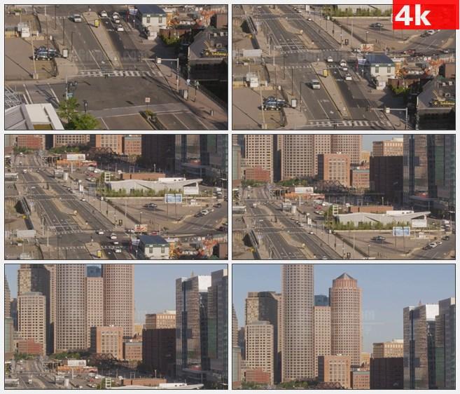4K0796波士顿街道道路交通城市面貌高清实拍视频素材