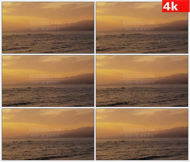 4K1029黄金海岸夕阳日落自然美景高清实拍视频素材