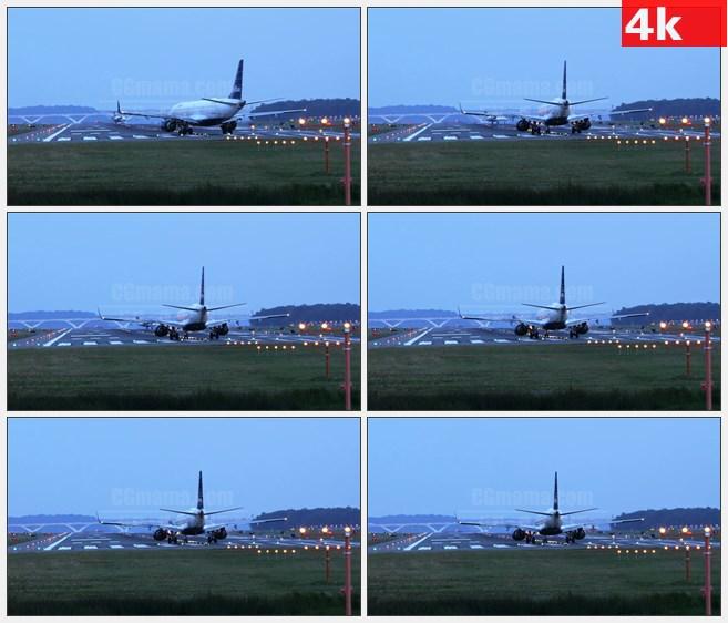 4K1035机场飞机上跑道准备起飞高清实拍视频素材