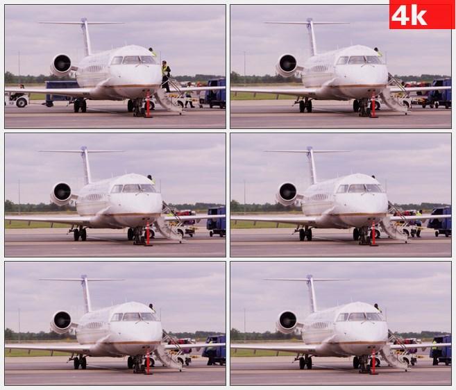4K1036机场机长登上私人飞机高清实拍视频素材