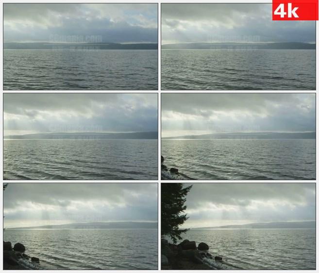4K0977海水岸边的新斯科舍湾高清实拍视频素材