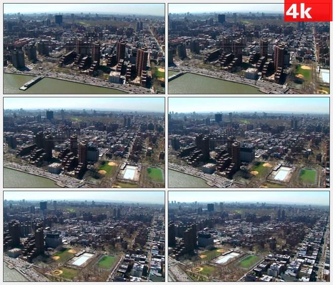4K0987航拍城市曼哈顿 (2)高清实拍视频素材