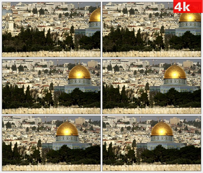 4K0989航拍城市面貌金色圆顶欧式建筑高清实拍视  频素材