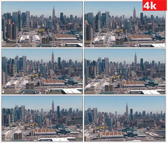 4K0993航拍美国纽约帝国大厦城市美景城市面貌高  清实拍视频素材