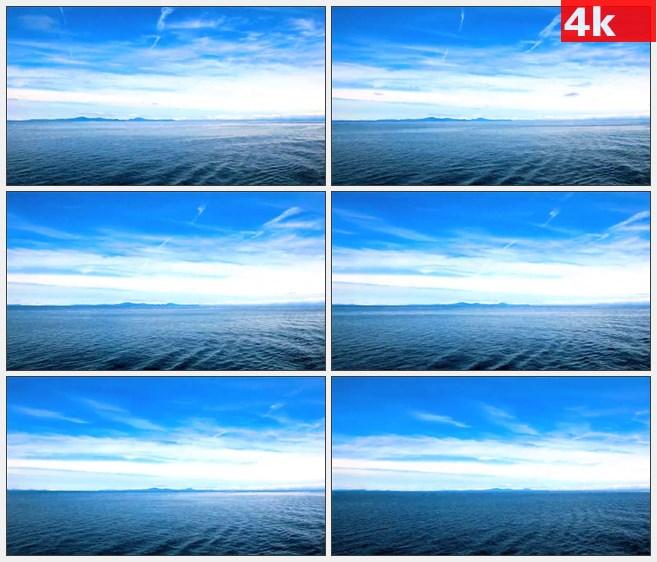 4K1080蓝色海洋天空云彩自然美景延时拍摄高清实拍视频素材