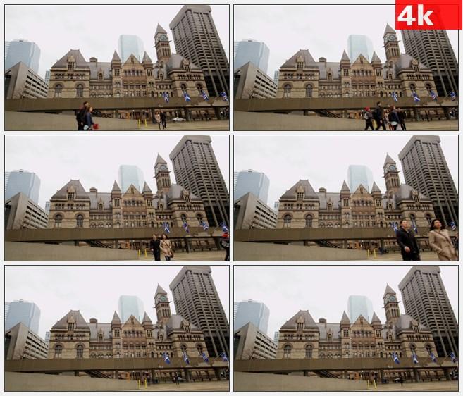4K1142美国的多伦多弥敦飞利浦广场高清实拍视频素材