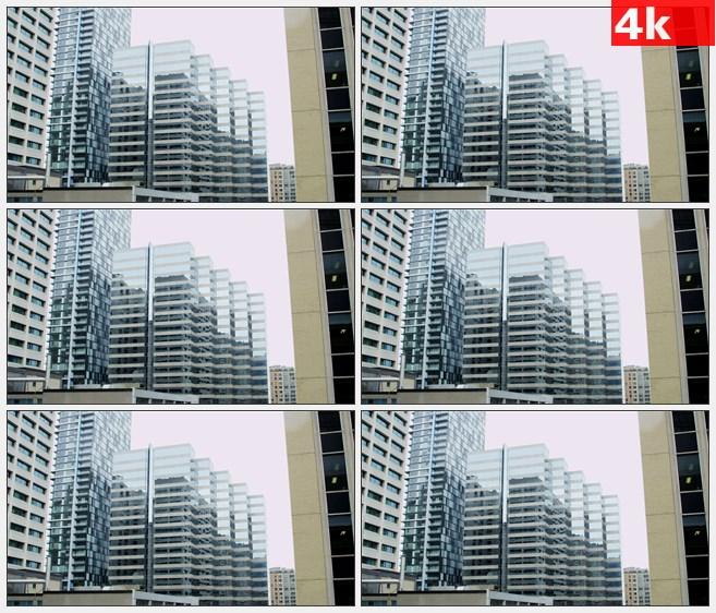 4K1151美国多伦多市中心办公大楼高清实拍视频素材