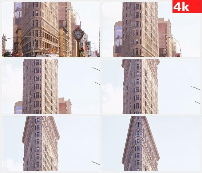 4K1201美国纽约市熨斗大厦街景高清实拍视频素材