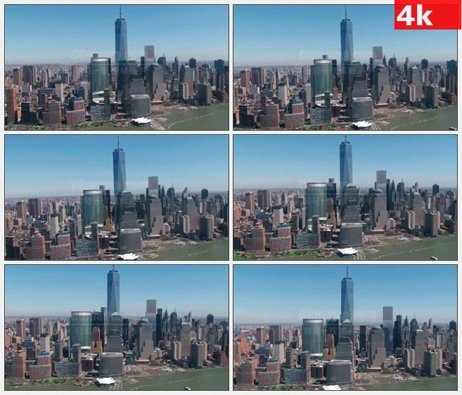 4K1220美国自由塔城市航拍高清实拍视频素材 4K1220美国自由塔城市航拍高清实拍视频...