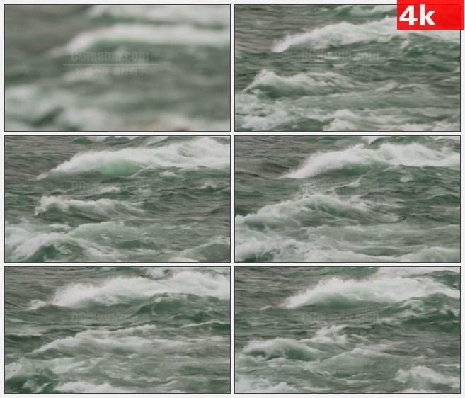 4K1253尼亚加拉大瀑布的急流冲高清实拍视频素材