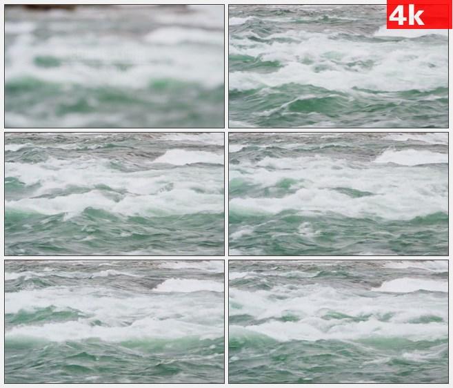 4K1255尼亚加拉急流河水调焦高清实拍视频素材