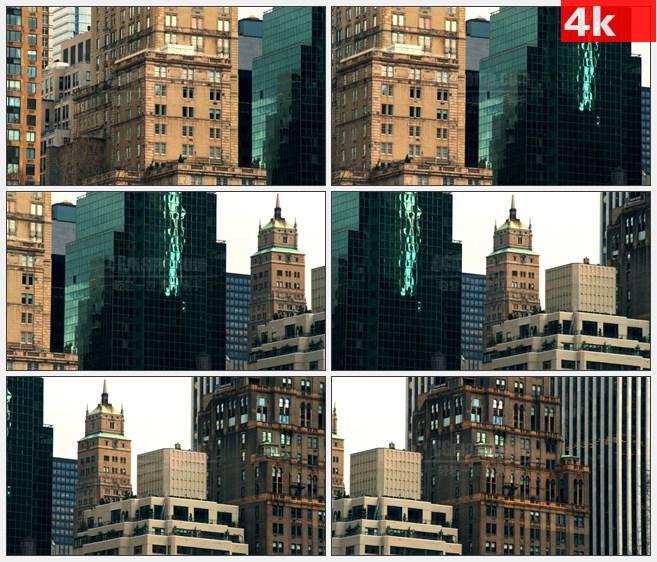 4K1262纽约城市建筑高楼大厦风貌高清实拍视频素材