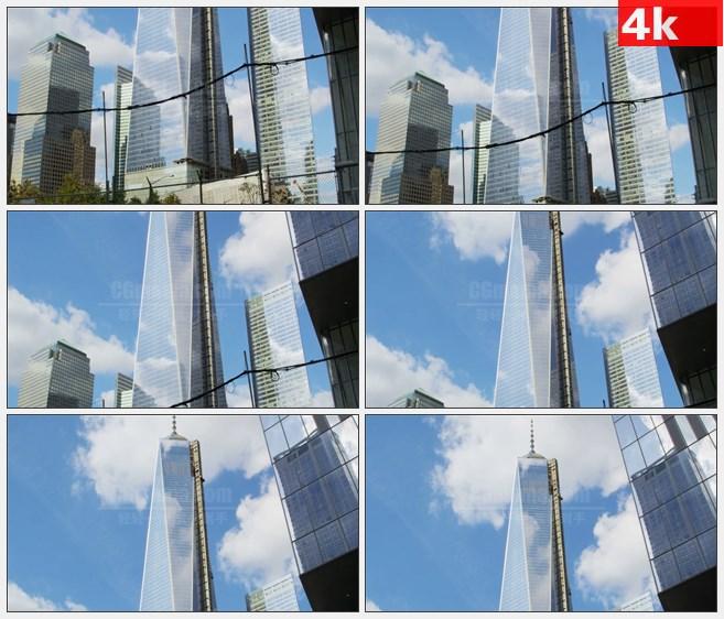 4K1273纽约自由塔大厦高清实拍视频素材