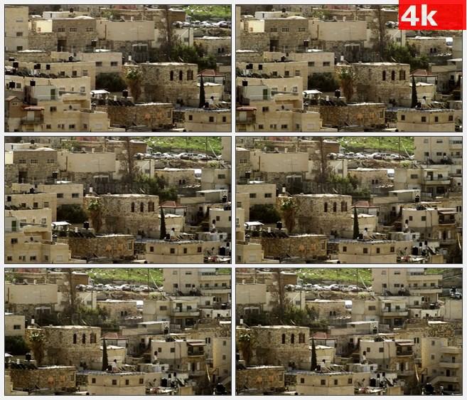 4K1371石头房子小镇高清实拍视频素材