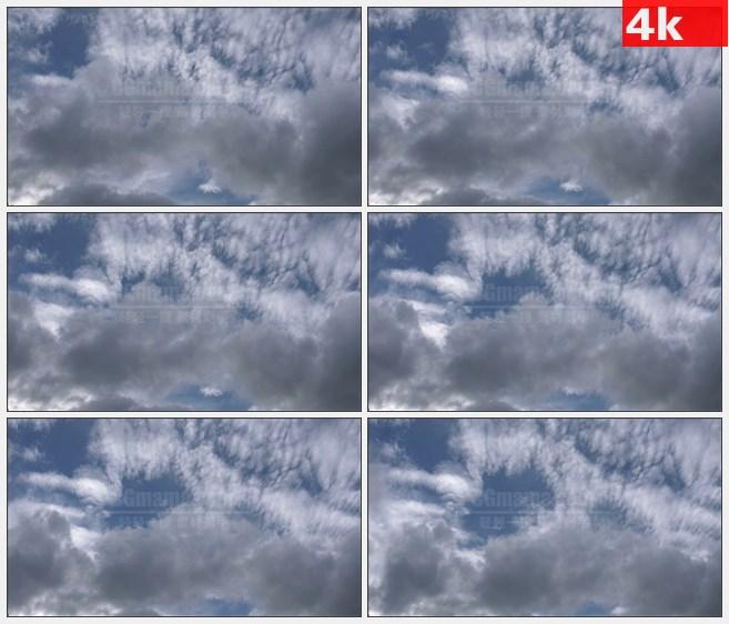 4K1375时间流逝蓝天天空白云快速移动高清实拍视频素材
