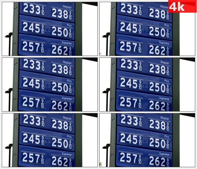 4K1402天然气价格上市标志高清实拍视频素材