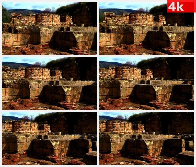 4K1438西方古建筑遗址石头建筑遗址高清实拍视频素材