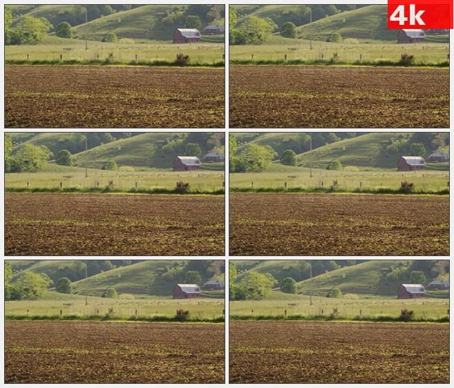 4K1441西弗吉尼亚州乡下的农场高清实拍视频素材