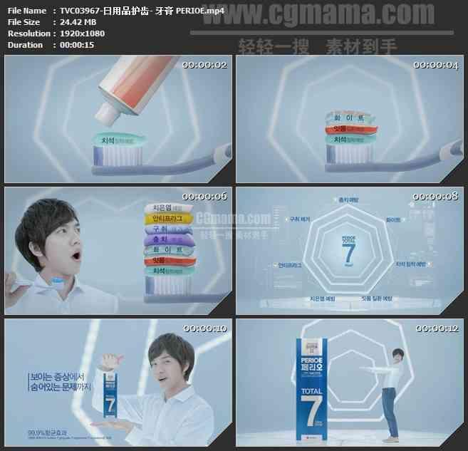 TVC03967-日用品护齿- 牙膏 PERIOE