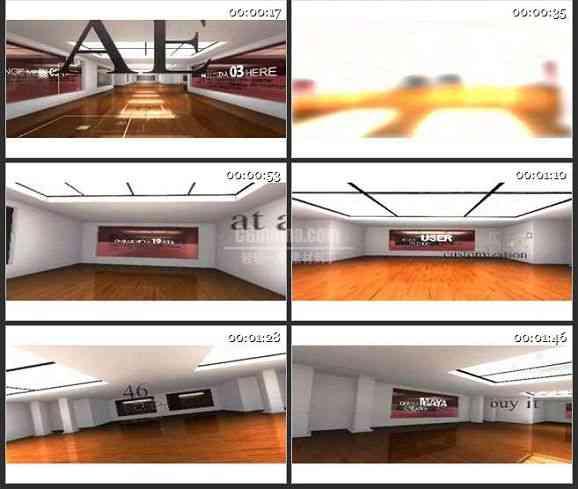AE1124-3D展厅 文字特效 图文视频展示 宣传片