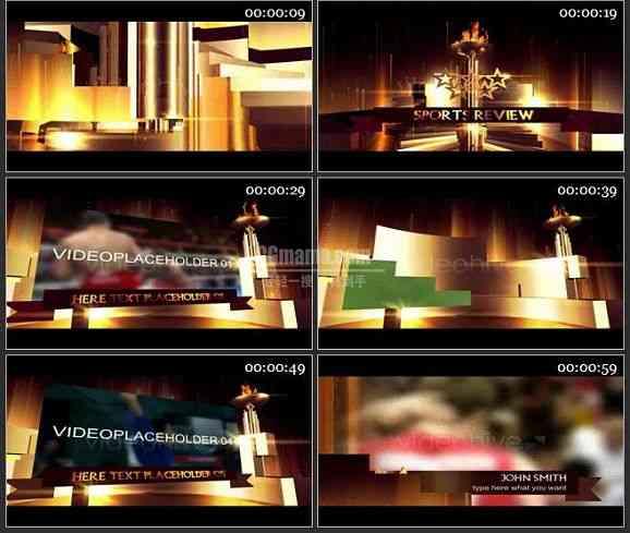 AE1141- 体育类奥运火炬效果 图文展示片头