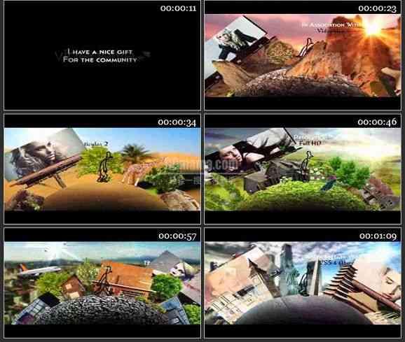 AE1183 旅游栏目包装环球旅行 图片展示
