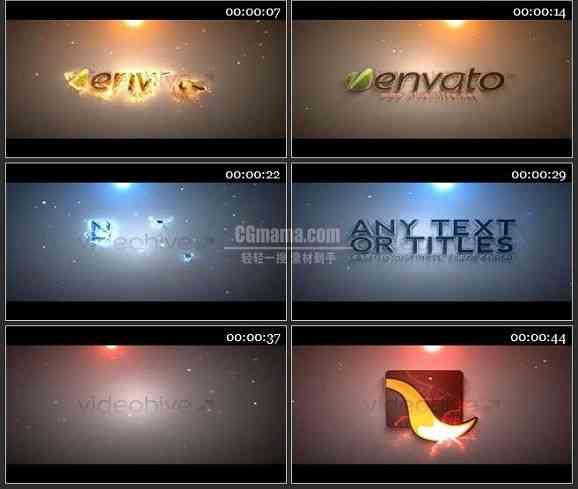 AE1187- 奇幻粒子效果LOGO展示模板