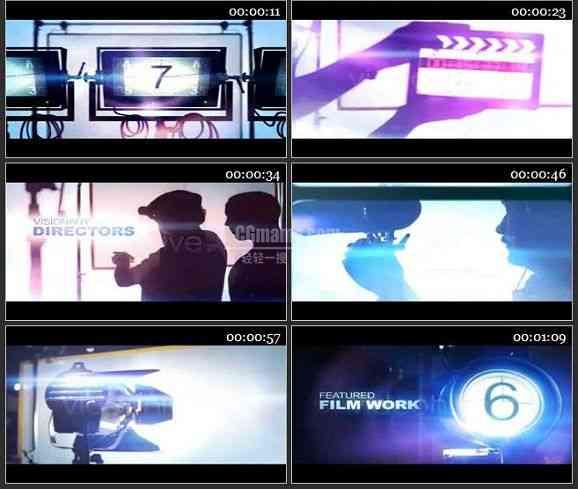 AE1190 数字影院效果电影模板 图文展示