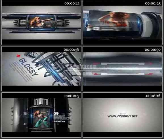 AE1192 科技感 图文展示