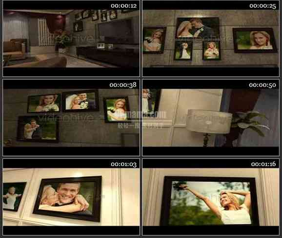 AE1200 室内相片墙效果浪漫婚礼模板