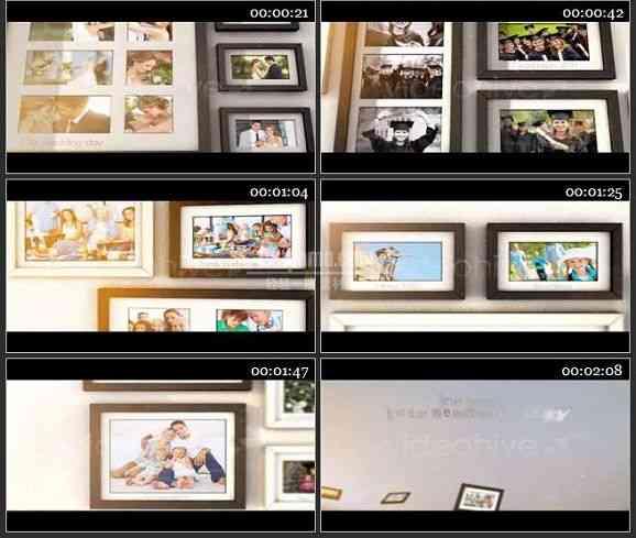 AE1207 楼梯的记忆婚礼相册模板