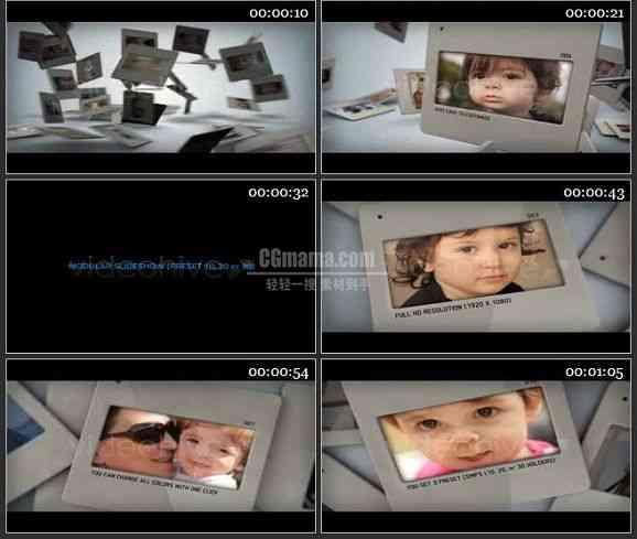 AE1213- 相片落下效果AE相册模板
