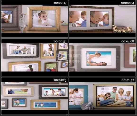 AE1226- 室内家庭相册展示模板