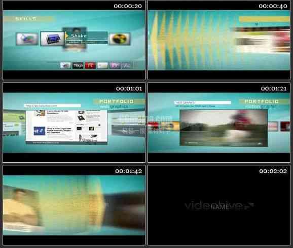 AE1233- 产品推广网站宣传模板 图文 展示