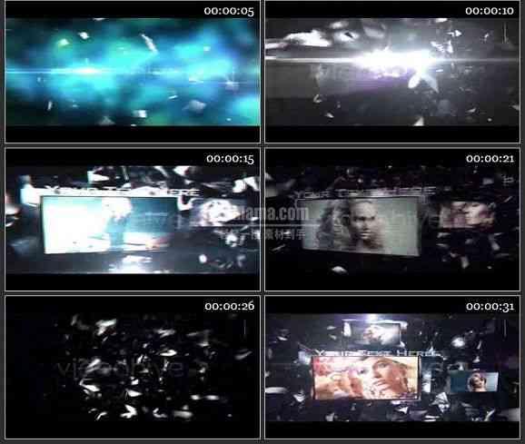 AE1235- 光晕故障效果电视包装 图文视频展示