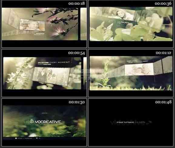 AE1238- 记忆效果电影开场 相册