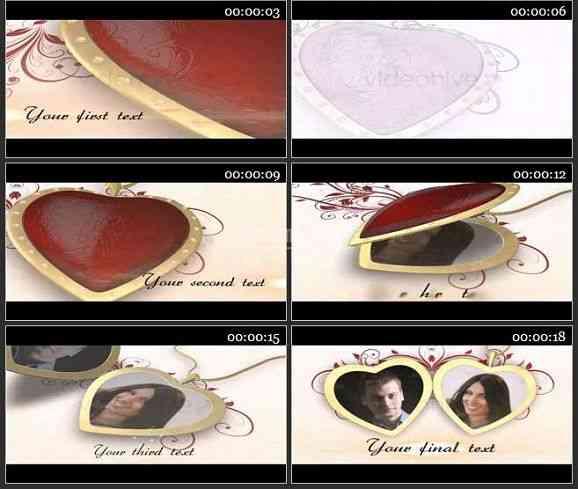AE1240 婚庆类爱的表白 图片展示