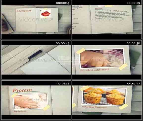 AE1247- 烹饪栏目电视包装模板 图文展示