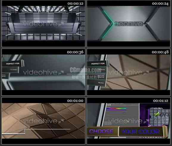 AE1259 科技感效果电视广告包 文本视频展示
