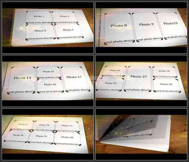 AE2502-1 粒子雪花特效 影集相册 照片展示