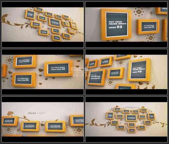 AE2512-温馨爱的照片墙  照片展示